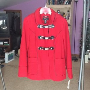 Style & Co Red Peacoat